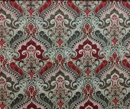 Imagem - Tecido Belize Arabesco Vermelho cód: 205024