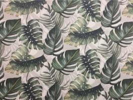Imagem - Tecido WaterHavana Estampa Digital Costela de Adão Verde cód: 205739