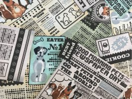 Imagem - Tecido Belize Estampa Pets cód: 205718