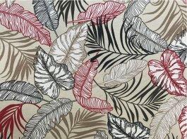 Imagem - Tecido Belize Folhas fundo Marfim cód: 205693