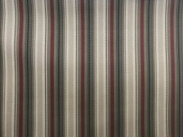 Imagem - Tecido WaterHavana Estampa Digital Listrado Marrom/Vermelho cód: 205761