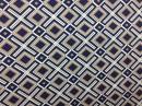 Tecido Belize Geométrico fundo Azul Marinho