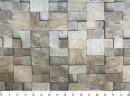 Tecido WaterHavana Estampa Digital Mosaico Pedra Bege 2