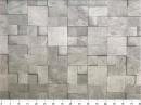 Tecido WaterHavana Estampa Digital Mosaico Pedra Cinza 2