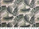 Tecido WaterHavana Estampa Digital Costela de Adão Verde 2