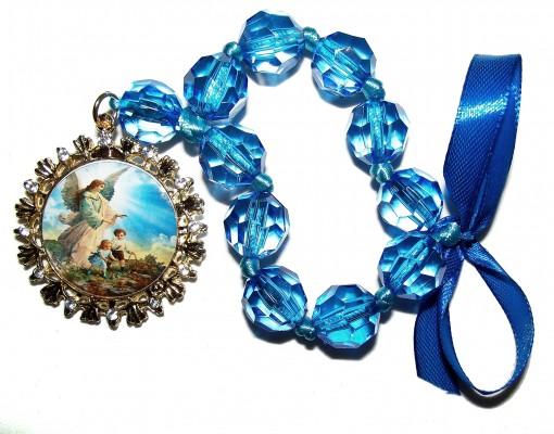 Medalhão de Berço Anjo da Guarda com oração no verso