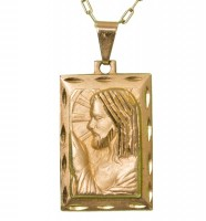 Corrente com Placa Jesus Orando