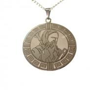 Corrente com São Bento em Aço Inox - (Medalha Pequena)