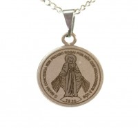 Corrente de N. Senhora das Graças em Aço Inox - (Medalha Pequena)