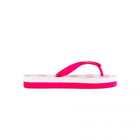 Chinelo Emborrachado Pink Branco