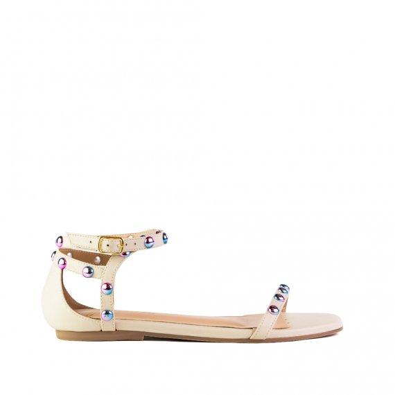 Sandalia Flat Confort Off White