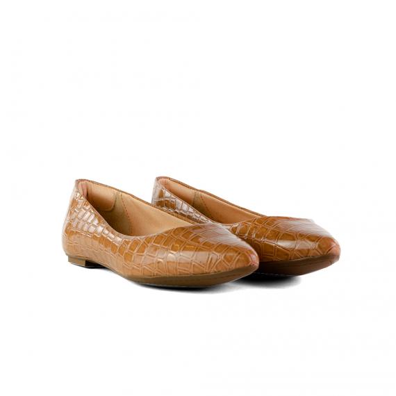 Sapatilha Comfort Croco Tan