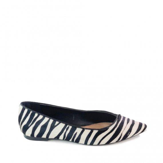 Sapatilha Pelo Zebra/ Preto
