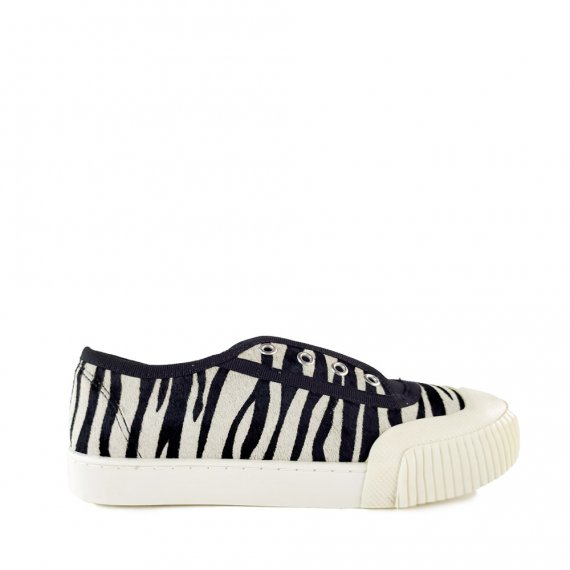 Tênis Pelo Zebra com Preto