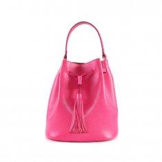 Imagem - Bolsa em Couro Bucket Pink