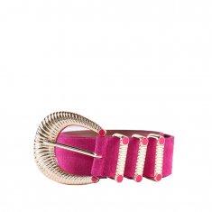 Imagem - Cinto Couro Camurca Pink