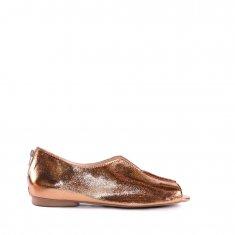 Imagem - Peep Toe em Couro Cristal Bronze