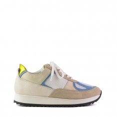 Imagem - Tenis Jogging Camurca Sand Camurca Ciel Bulgari Off White Mini Lezard Off White