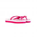 Chinelo Emborrachado Pink Branco 2