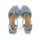 Sandália Camurça Salto Baixo Blue 2