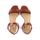 Sandália Salto Baixo Borgonha 2
