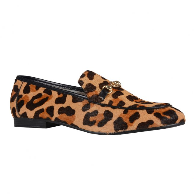 Loafer Couro Animal Print I20