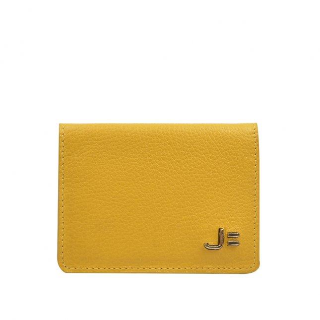 Carteira Porta-cartão Couro Yellow V22