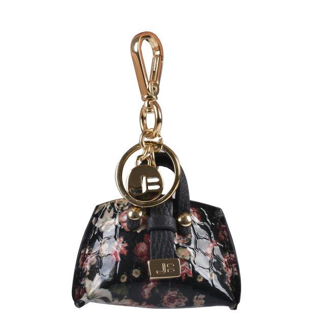 Bag Charm Bolsinha Couro Floral I20