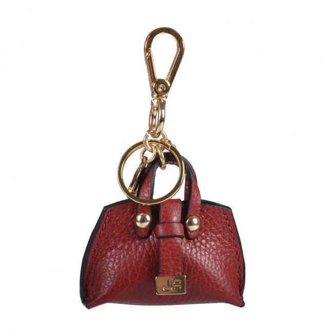 Bag Charm Bolsinha Couro Vermelho I20