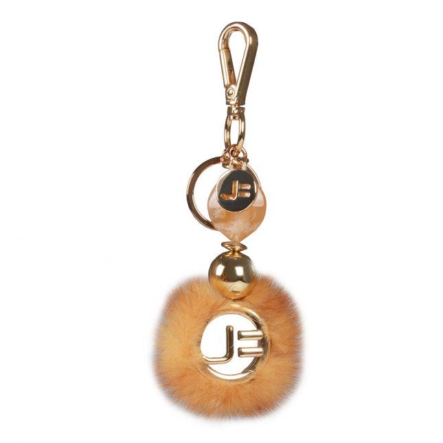 Bag Charm Mandala Plumas Amarelo I21