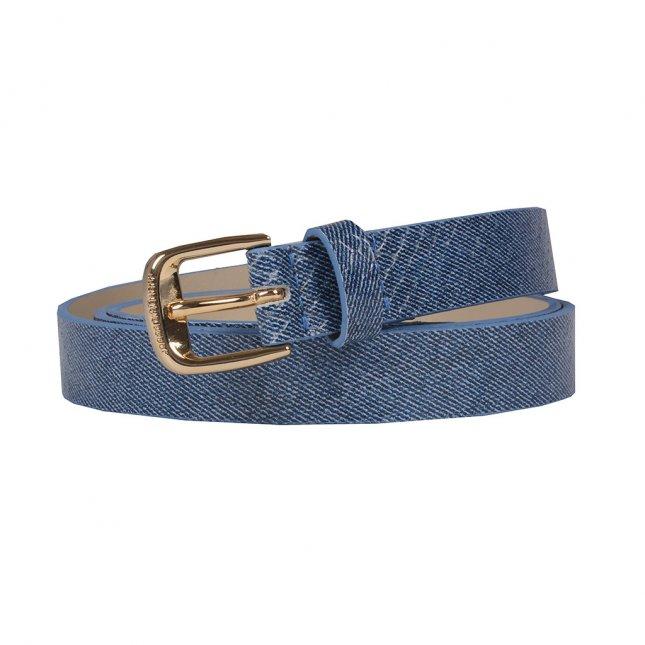 Cinto em Couro Jeans Azul Náutico V20