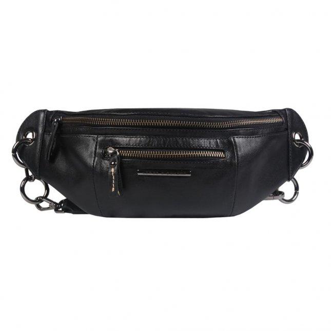 Belt Bag em Couro Preta I21