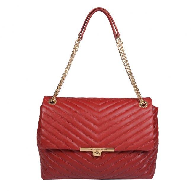 Bolsa Couro Matelassê Dark Red I21