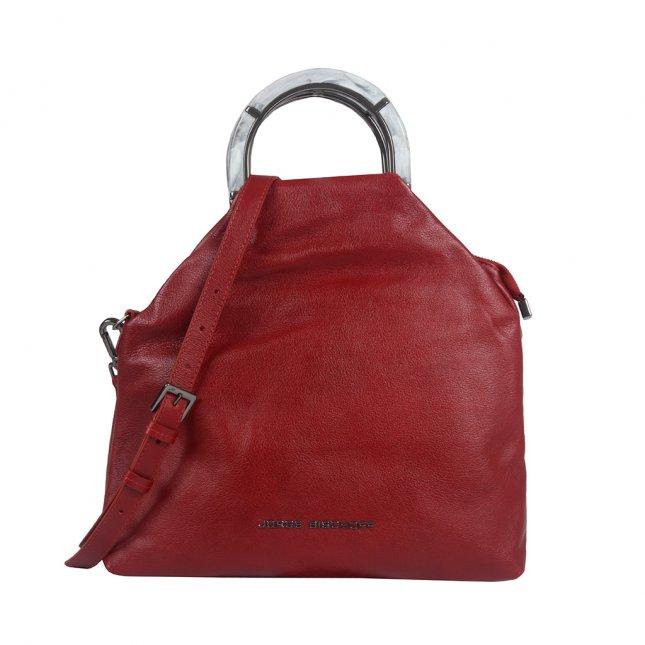 Bolsa Couro Vermelha com Alça Acrílico I20