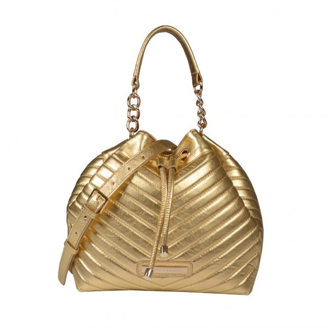 Bolsa Saco Matelassê Dourado V21