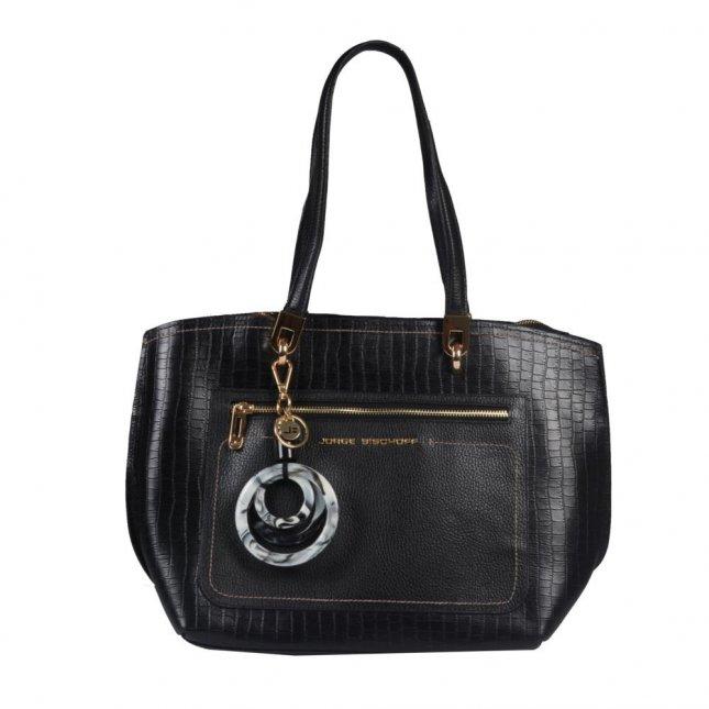Bolsa Sacola Preta com Bag Charm