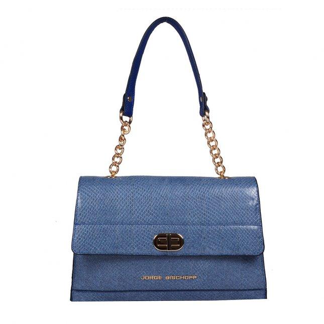 Bolsa em Couro Jeans Azul Náutico V20