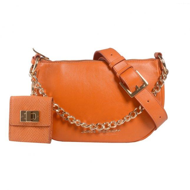 Bolsa Tiracolo Couro Damasco com Micro Bag V22