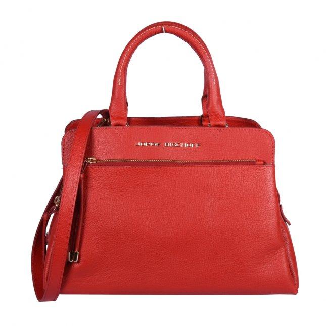Bolsa Couro Vermelho com Alça Longa