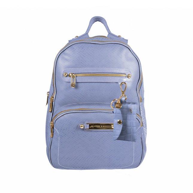 Mochila em Couro Dream Blue com Bag Charm V22