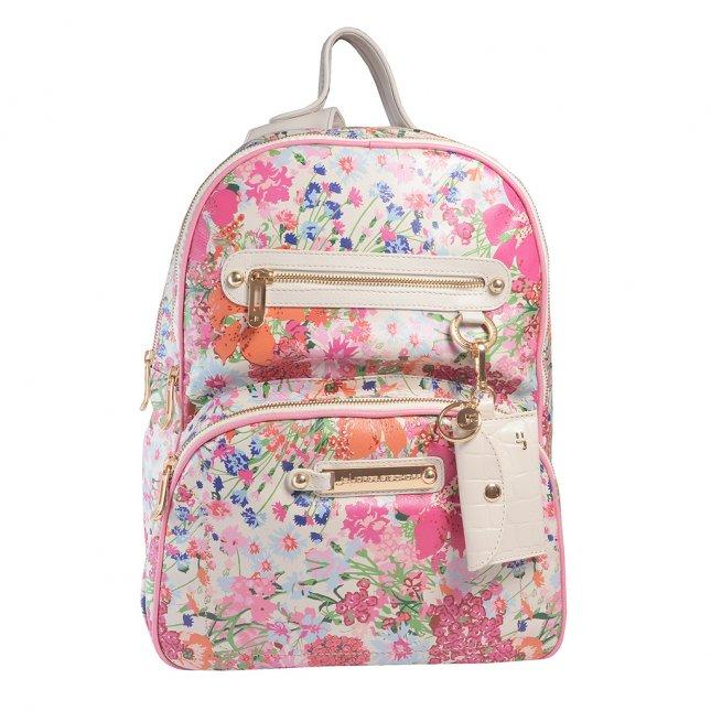 Mochila Couro Fiore com Bag Charm V22