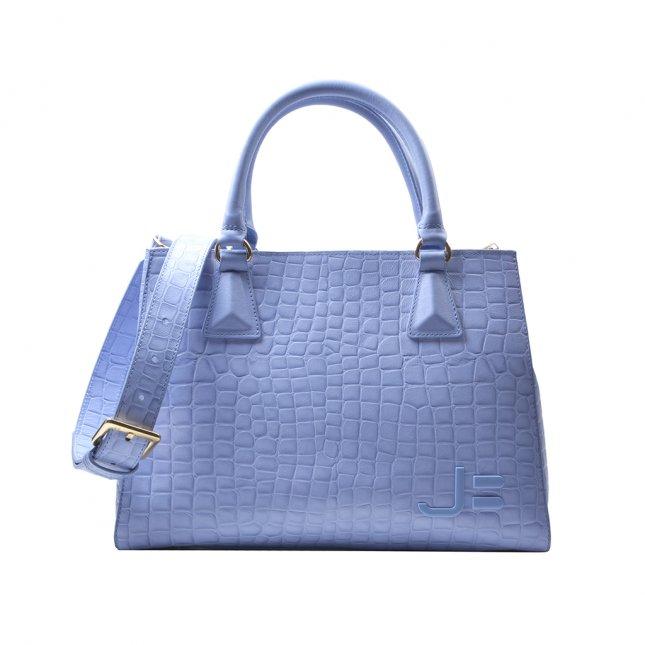 Bolsa Tote Couro Texturizado Dream Blue V22