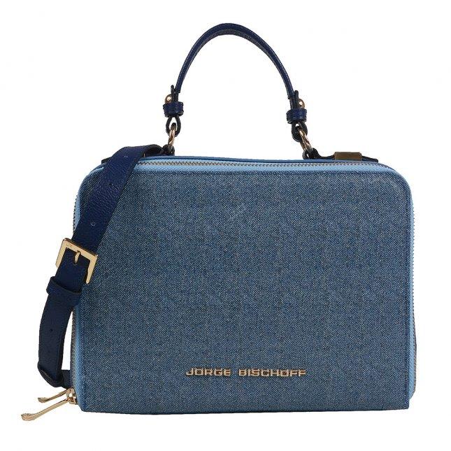 Bolsa Box Tiracolo Couro Jeans Azul Náutico V20