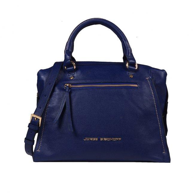 Bolsa Baú de Couro Azul Náutico V20