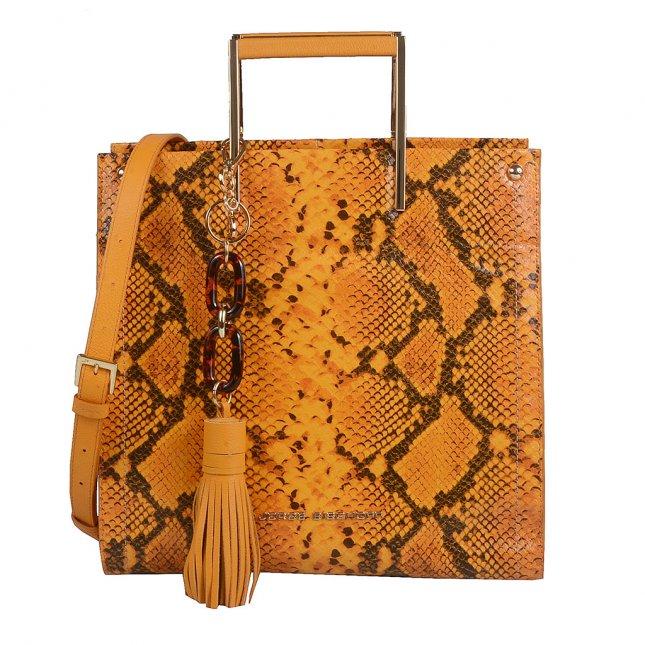 Bolsa Estruturada Couro Snake Sunset com Bag Charm V20
