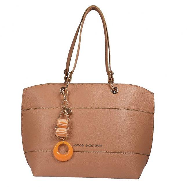 Bolsa Sacola em Couro Natural com Bag Charm V20