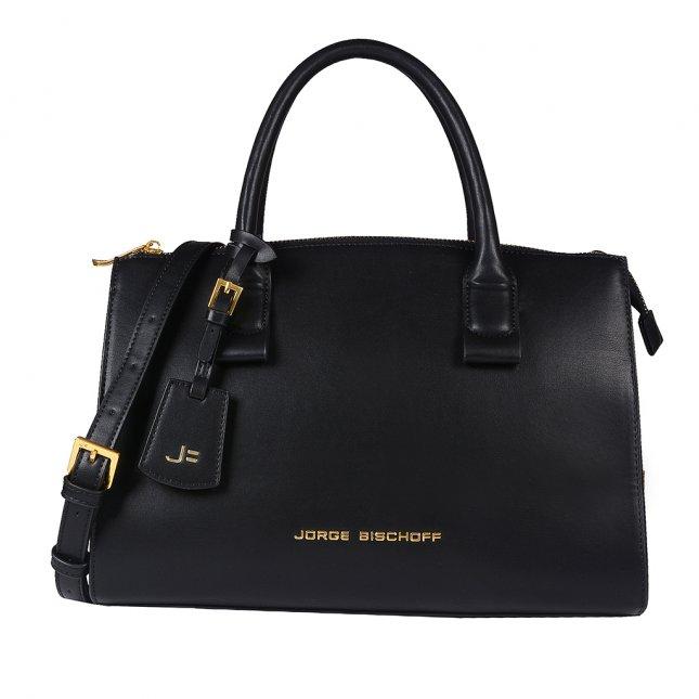 Bolsa Média Preta com Bag Charm V20