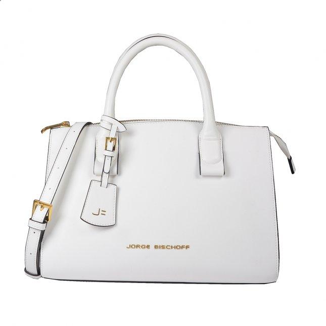 Bolsa Média Off White com Bag Charm V20