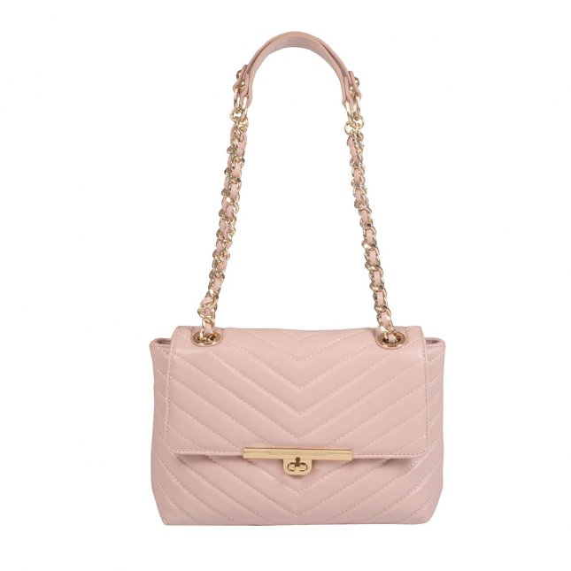 Clutch Matelassê Light Rosé com Ala Corrente I21