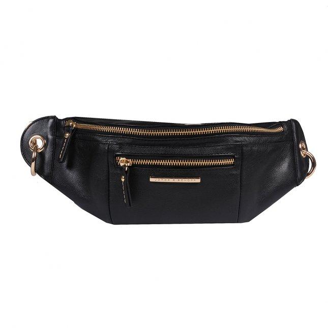 Belt Bag em Couro Preto V20